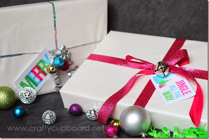 Modern and Bright Printable Gift Tags by the Crafty Cupboard