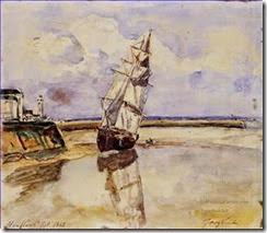3-Honfleur-impressionism-ship-seascape-Johan-Barthold-Jongkind