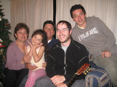 with my friend and his family in Bogota