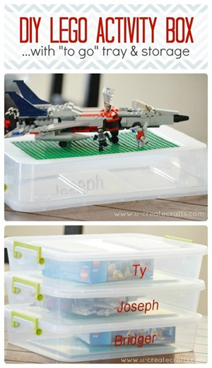 DIY Lego Activity Box with Storage - on the go Lego fun!