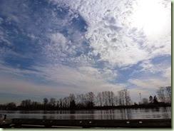 FraserRiver dramatic sky