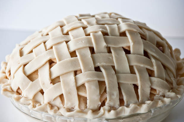 Grandma Ople's Apple Pie, prebaking