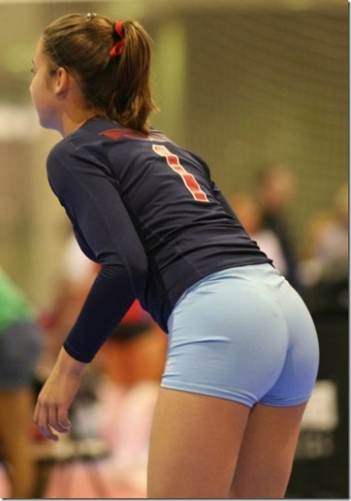 sexy girls volleyball shorts 14