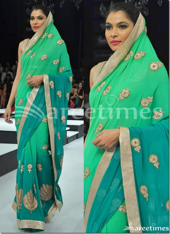 Shantanu_Nikhil_Green_Saree