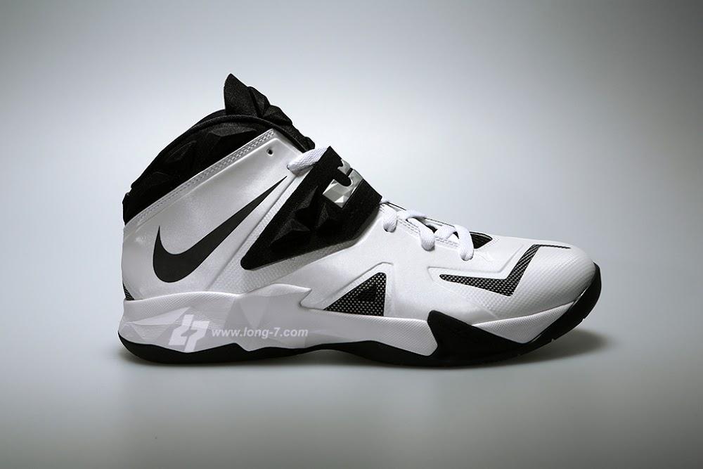 Lebron Nike Zoom Soldier Vii7 WhiteBlackMetallic Silver Latest