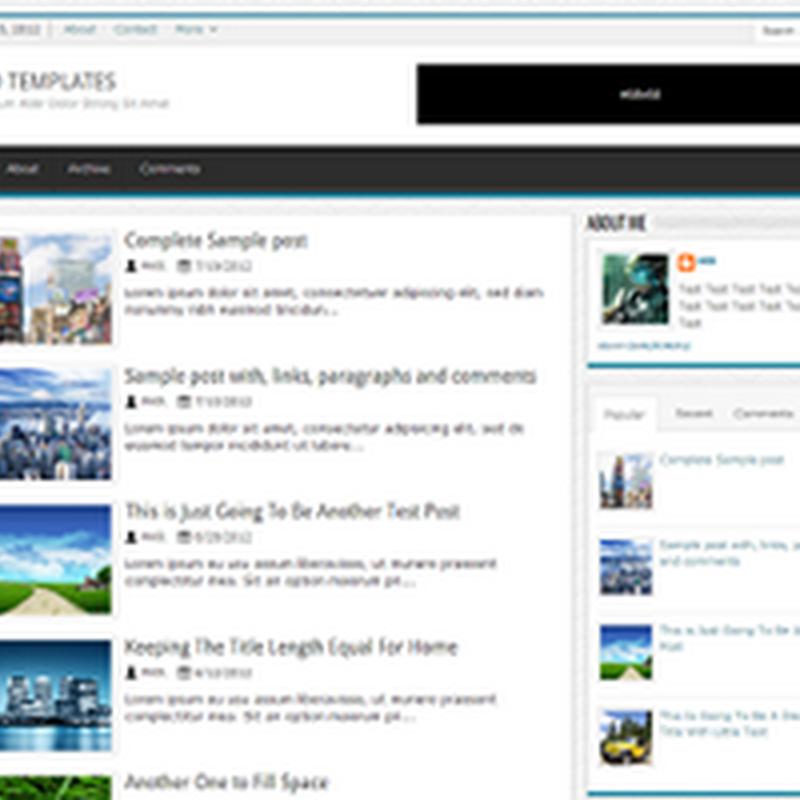 4 Template Blogger Simple Responsif Keren Banget deh