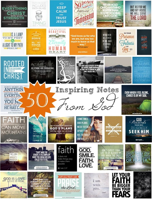 50 Inspiring Notes from God