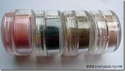 Mattify Sparkling Eye Shadow in Cotton Candy, Twilight, Woodland Fairy, Iced Apricot  Review And Swatch