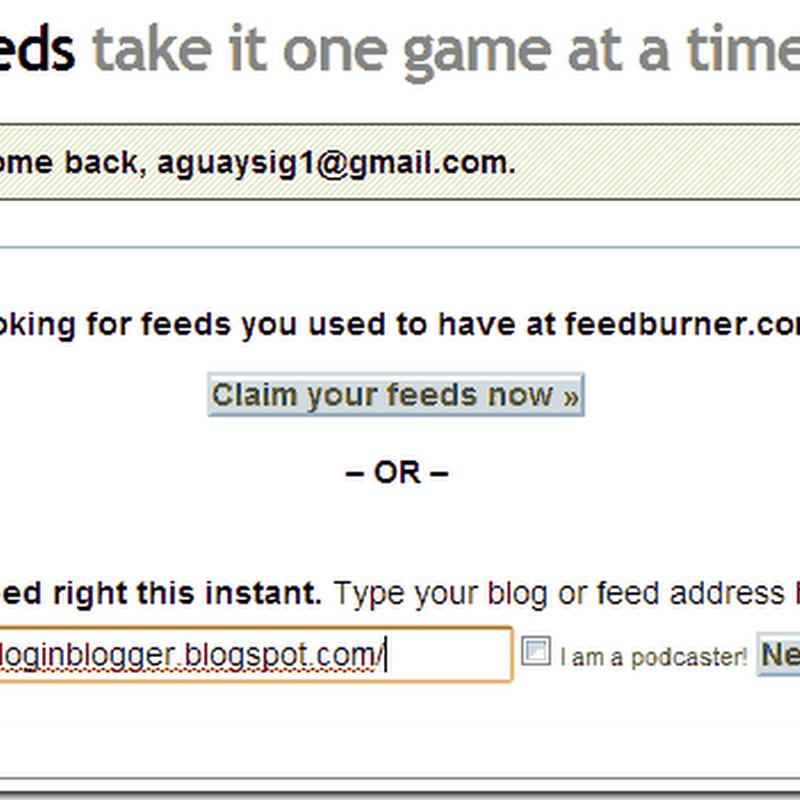 Crear un feed con feedburner