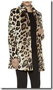 Amani Jeans Leopard Print Faux Fur Coat