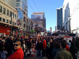 Granville and Robson is PACKED.