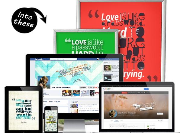 Crear portada para Facebook con letras
