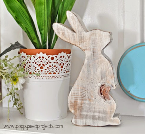DIY -Super Saturday Idea -  Chunky Wood Bunny