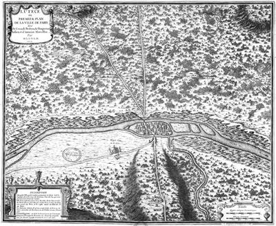 mapa de lutece paris 1705