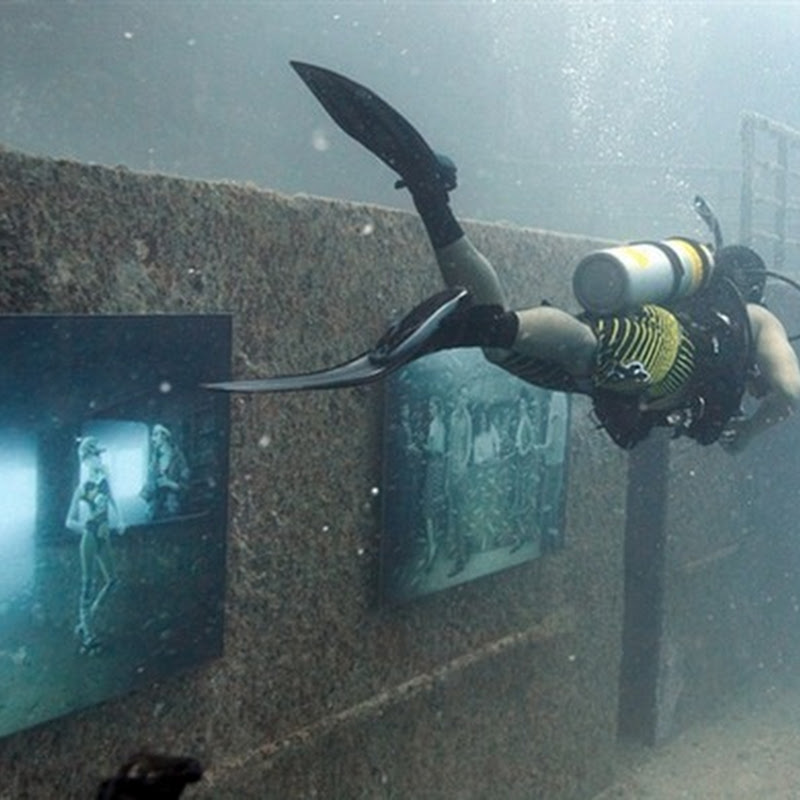 Underwater Photo Exhibition at Artificial Reef in Florida Keys