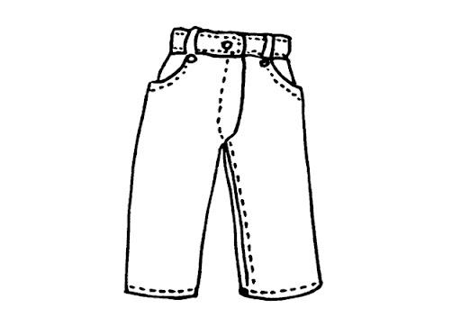 Pantalon de mujer para colorear - Imagui