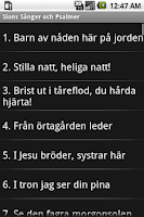 Screenshot of Sions Sånger och Psalmer