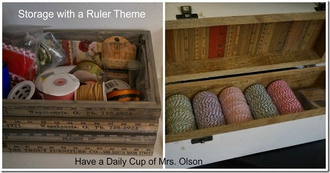 Ruler Themed Storage