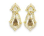 A Set of Cognac Diamond Earrings by Van Cleef & Arpels,  Gift from Richard Burton. Estimate: $100,000‐150,000