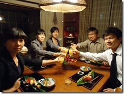 社長宅にて送別会