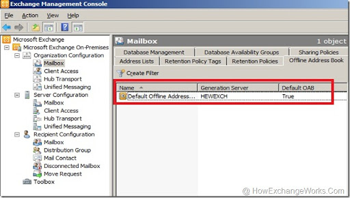 Oab not updating outlook 2003