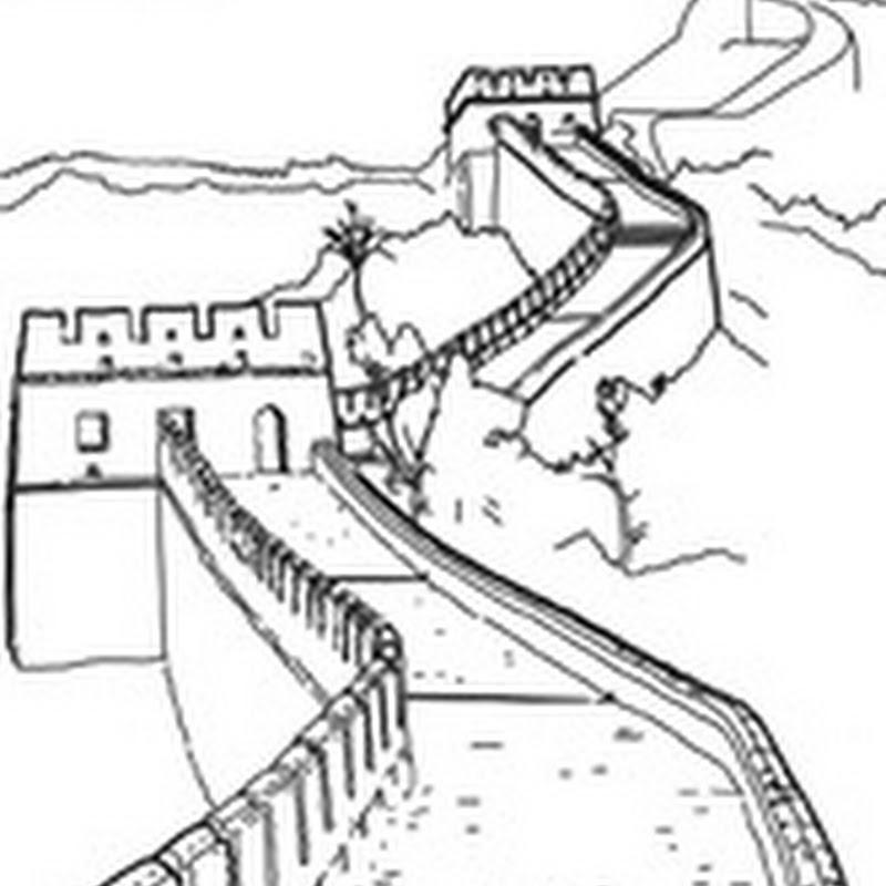 Dibujos para colorear de la muralla China