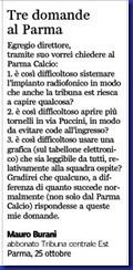 TCE, tre domande al Parma
