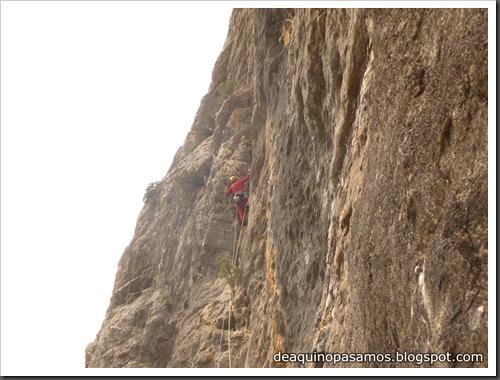 Via Gali-Molero 500m 6b  Ae (V  A1 Oblig) (Roca Regina, Terradets) (Omar) 0202