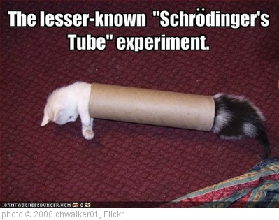 'schrodinger tube experiment' photo (c) 2008, chwalker01 - license: http://creativecommons.org/licenses/by/2.0/