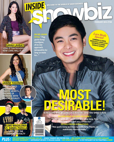 Coco Martin on Inside Showbiz Feb 2013 cover