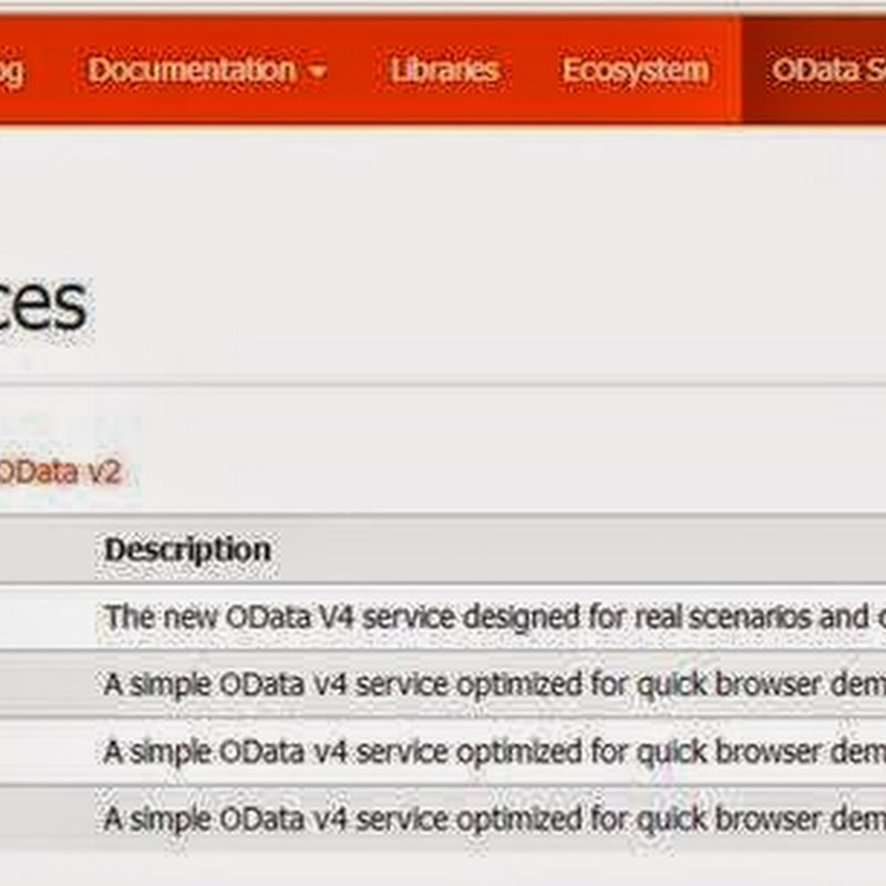 Consuming publically available oData Service