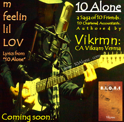 10 Alone lyrics by Vikrmn : m feelin lil LOV..