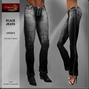 DANIELLE Black Jeans'