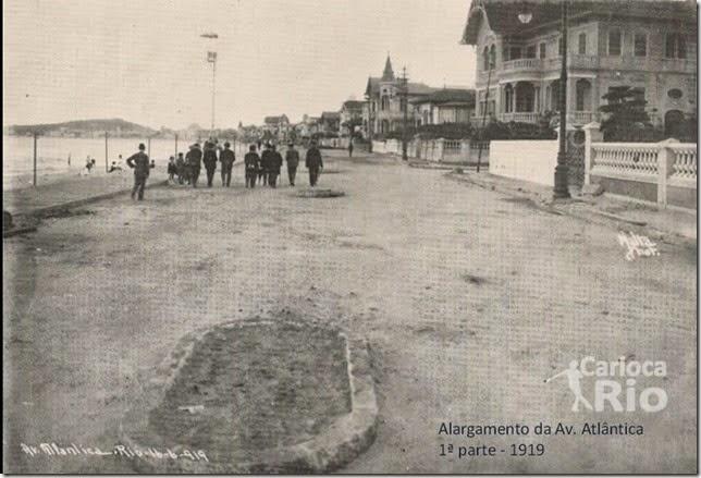 Alargamento da Av. Atlântica - 1919