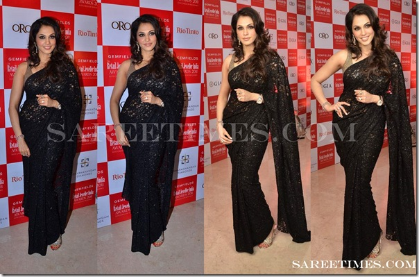 Isha_Koppikar_Black_Saree