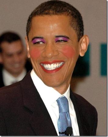 gay obama makeup