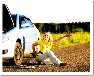 girl w car trouble