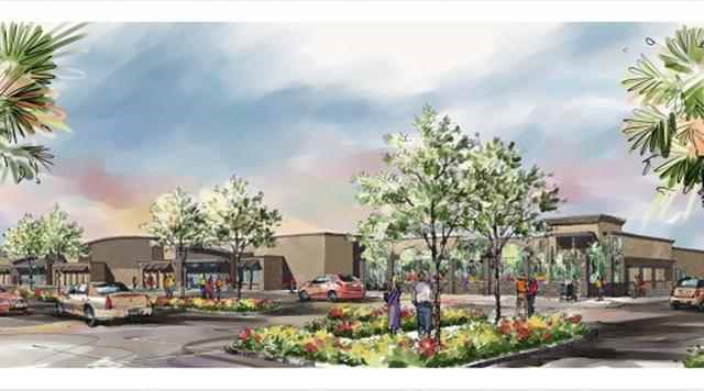 An architect's rendering shows a Walmart proposed for an area near Zoo Miami containing endangered pine rocklands. Graphic: Ram / Miami Herald