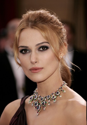 Keira Knightley classy Bulgari necklace 2008 Academy Awards