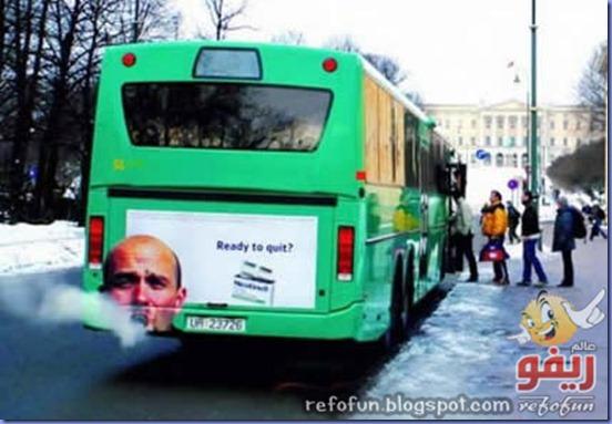 فن الاعلان على الحافلات عالم ريفو 7