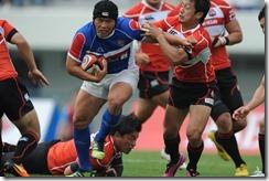 2012-korea-v-japan-Korea centre Kim Nam Wook on the charge v Japan in Week 3 of HSBC A5N
