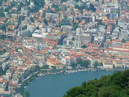 Orase Elvetia: Lugano vazut de sus