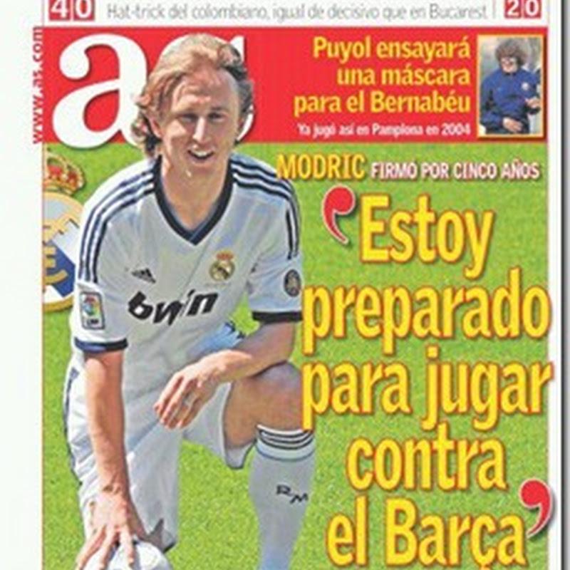 """Portada de AS para este Martes: """"Estoy preparado para jugar contra el Barca"""""""
