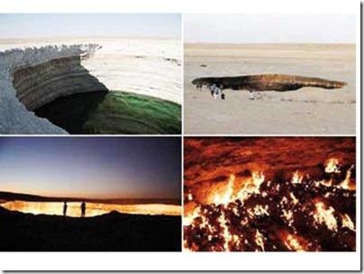 Lahar api dari 'pintu ke alam neraka'
