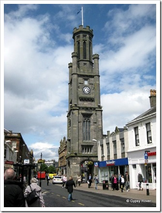 Wallace Tower in the centre of Ayr.