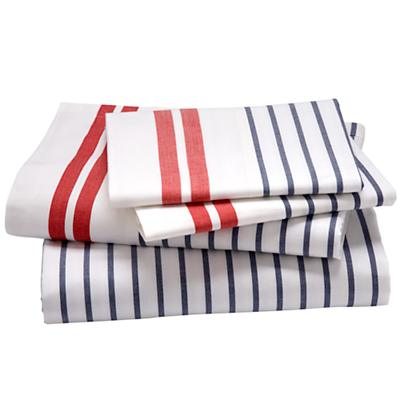 A red, white, and blue sheet set that's perfect for July 4th.  (landofnod.com)