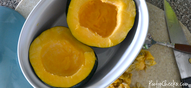 Microwaved Brown Sugar Acorn Squash Recipe