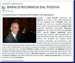 BARALDI AL PADOVA, L'ANTICIPAZIONE DI STADIOTARDINI