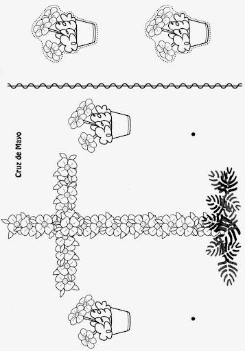 Cruz de mayo dibujo  Imagui