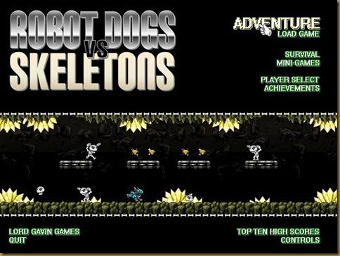 Robot Dogs Vs Skeletons タイトル